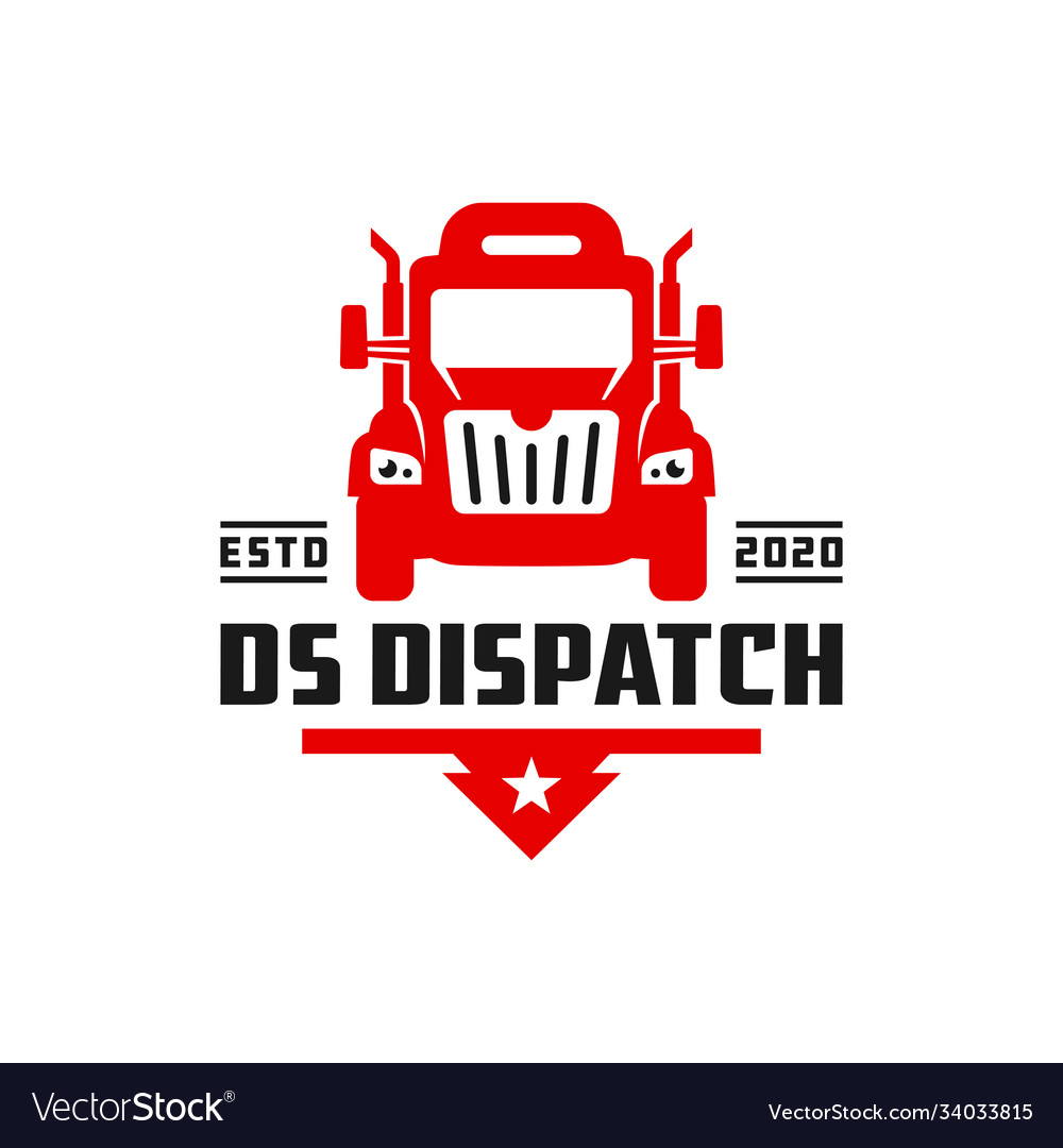Logistic truck transport logo