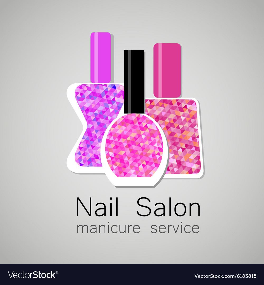 Nail Salon Logo Royalty Free Vector Image Vectorstock