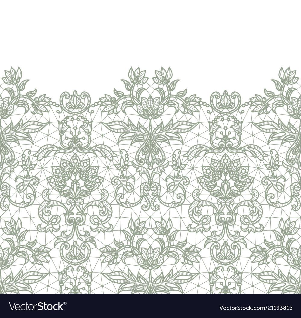 Seamless green lace