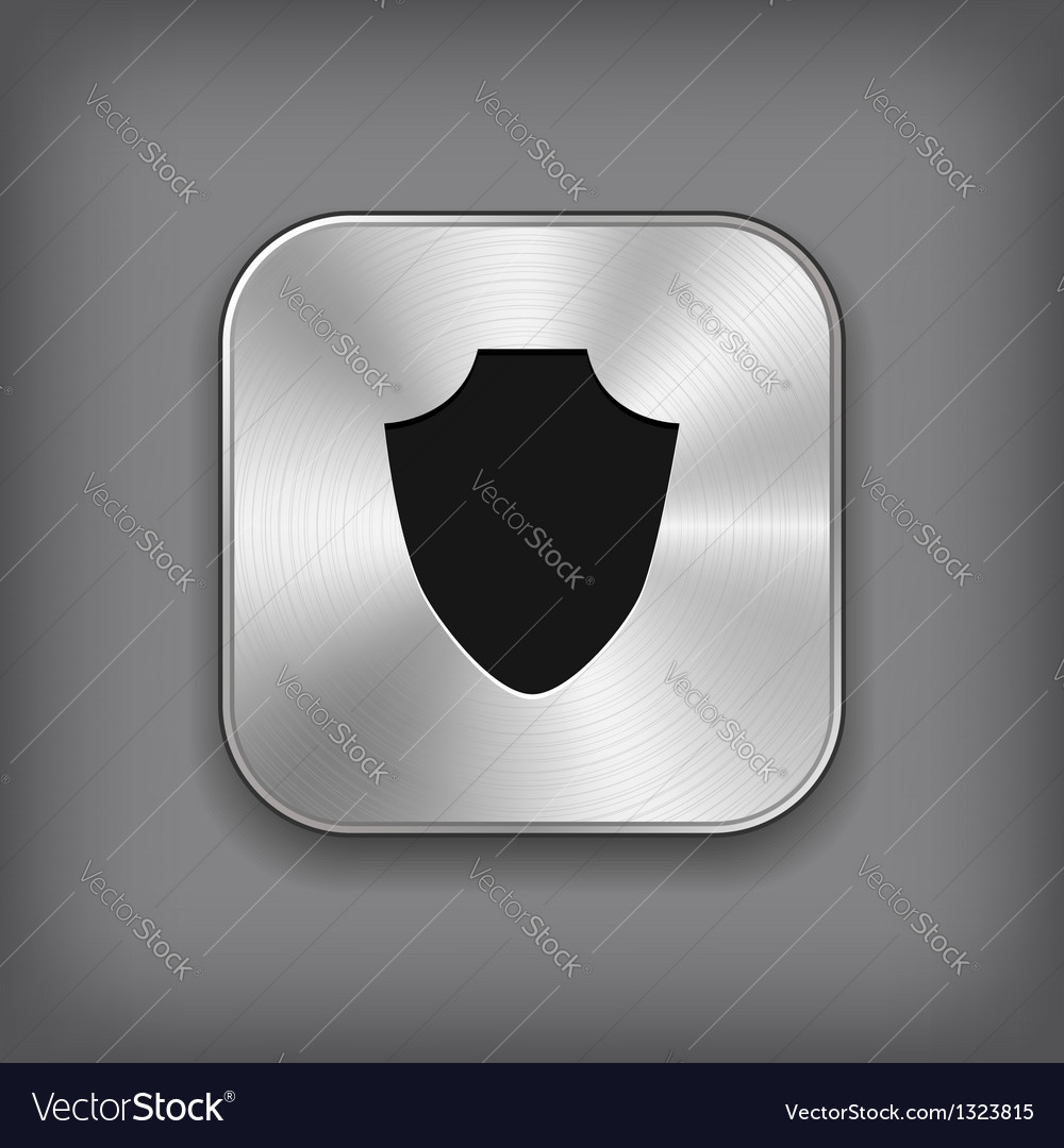 Shield icon - metal app button