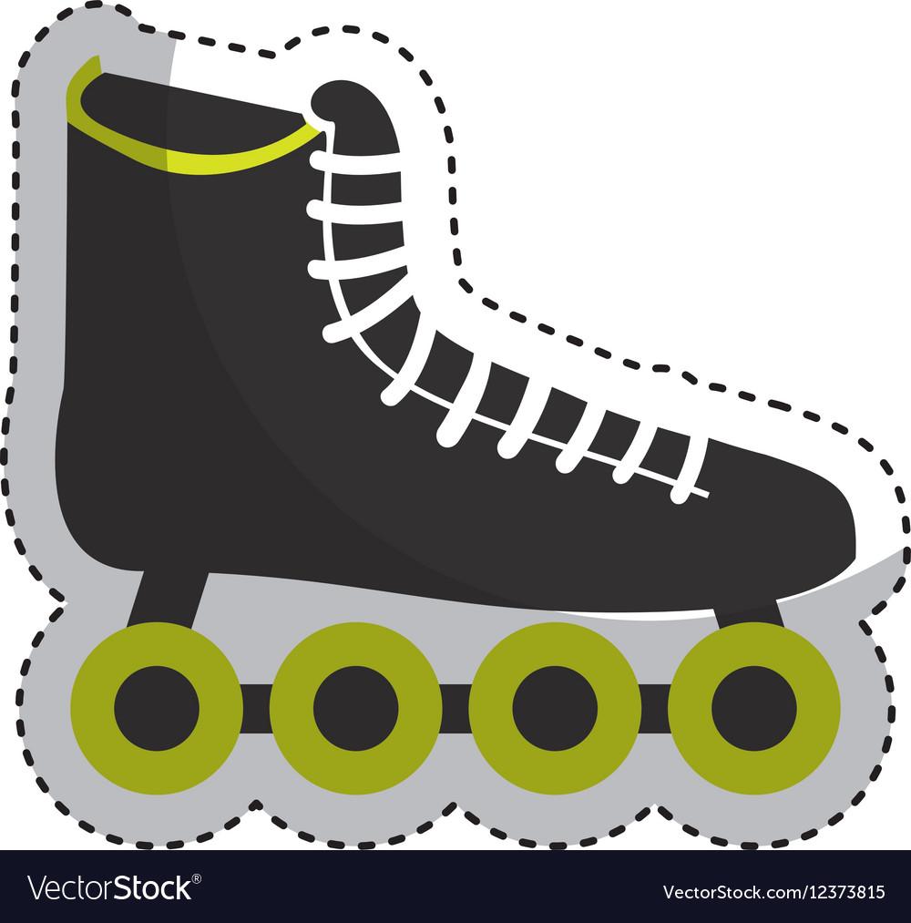 Skate sport equipment icon