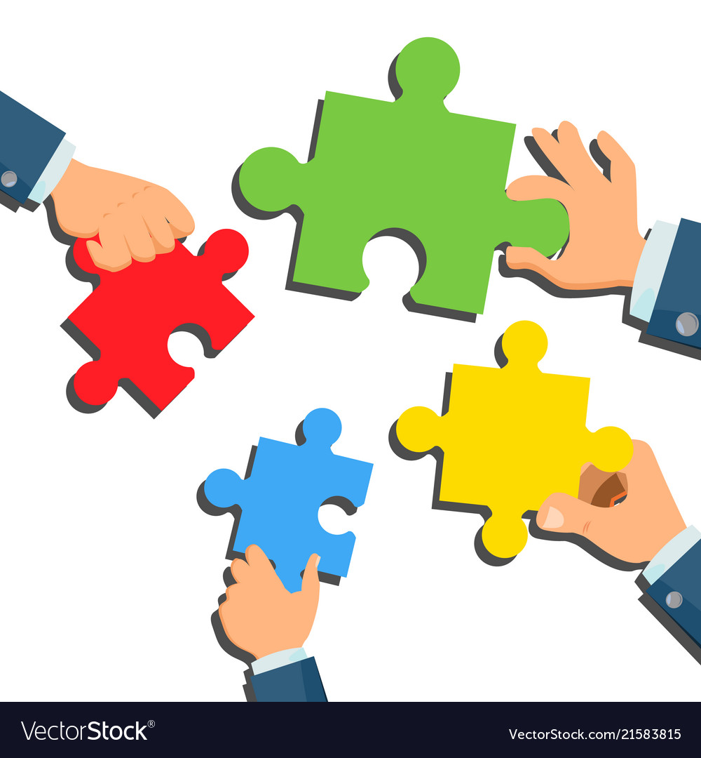 Solution concept businessman hands with