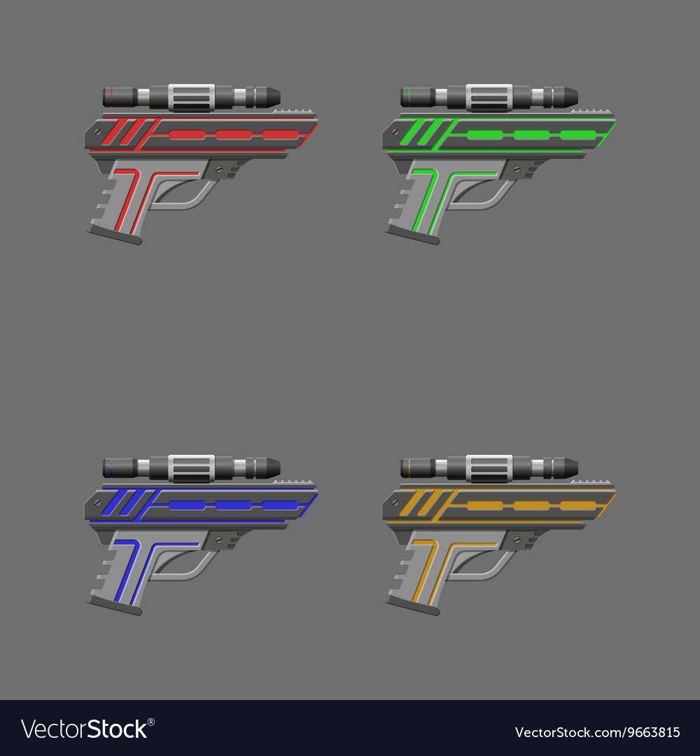Video game weapon Pistols set
