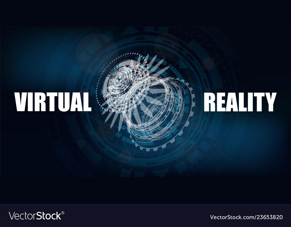 3d futuristic technology banner