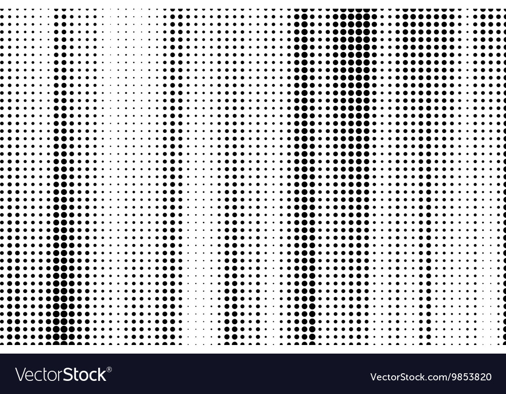 Abstract halftone Black dots on white background