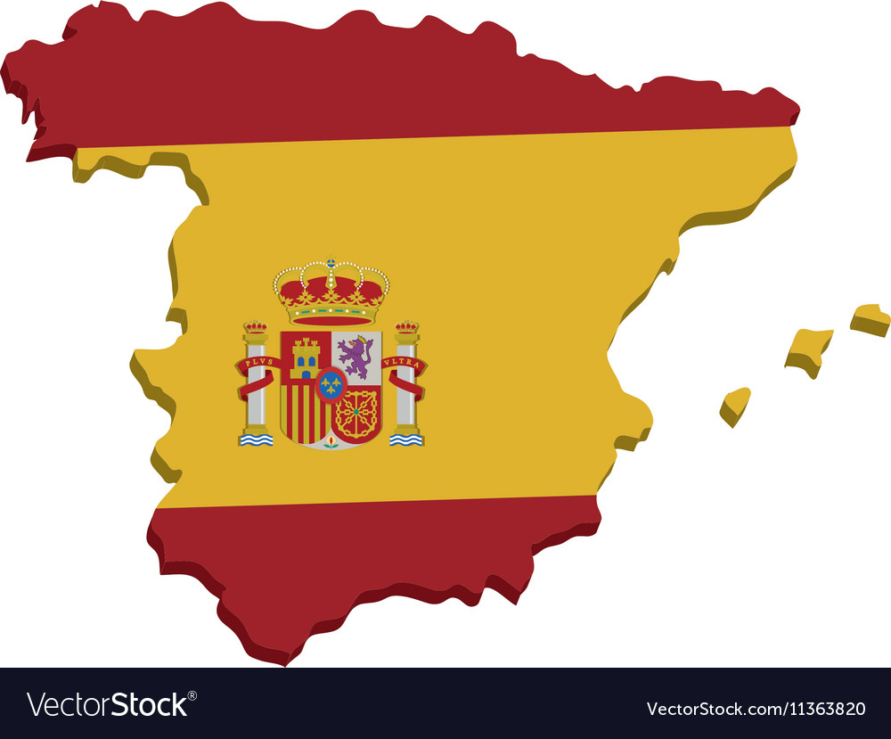 spain map geography isolated icon royalty free vector image