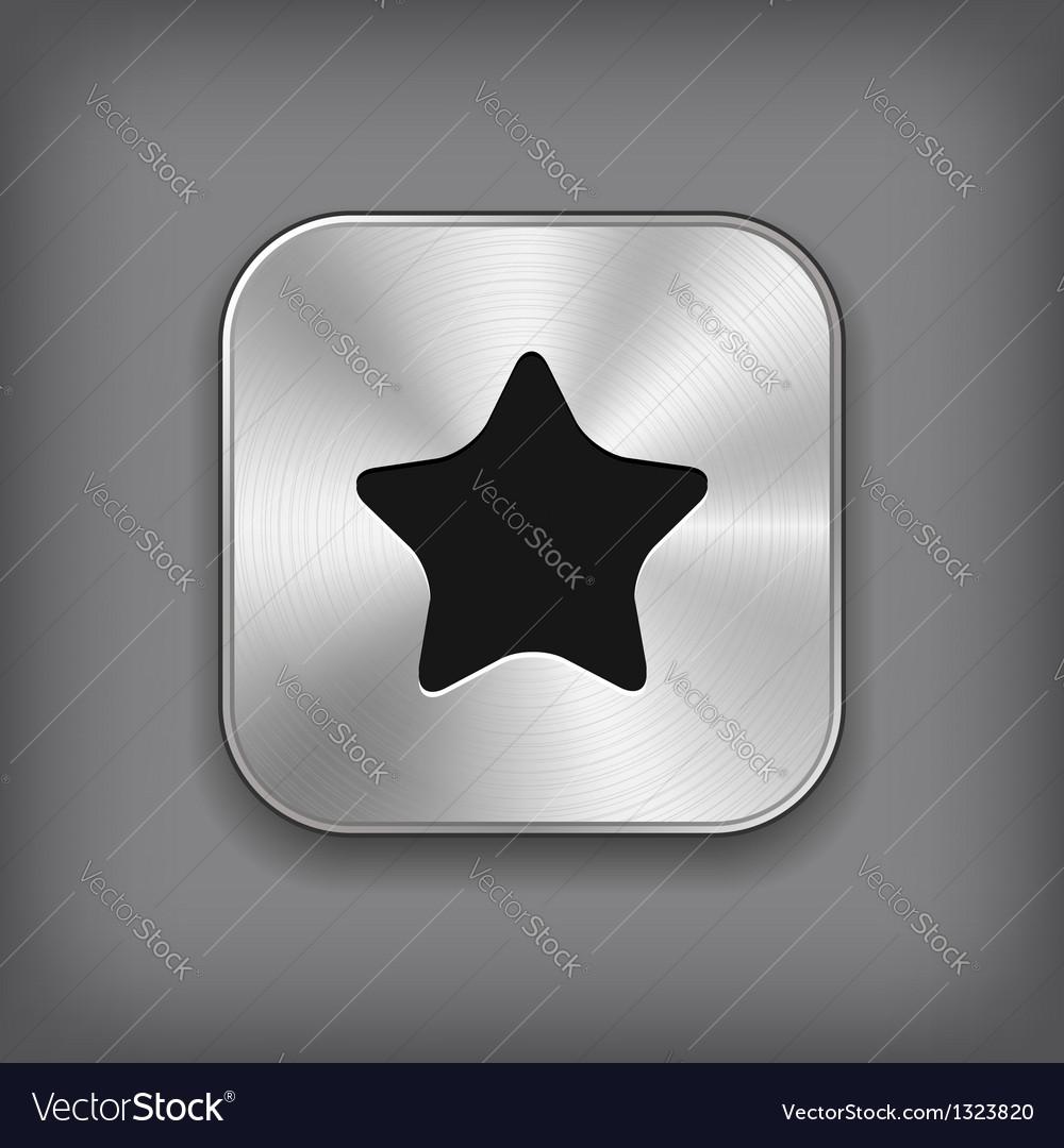 Star icon - metal app button