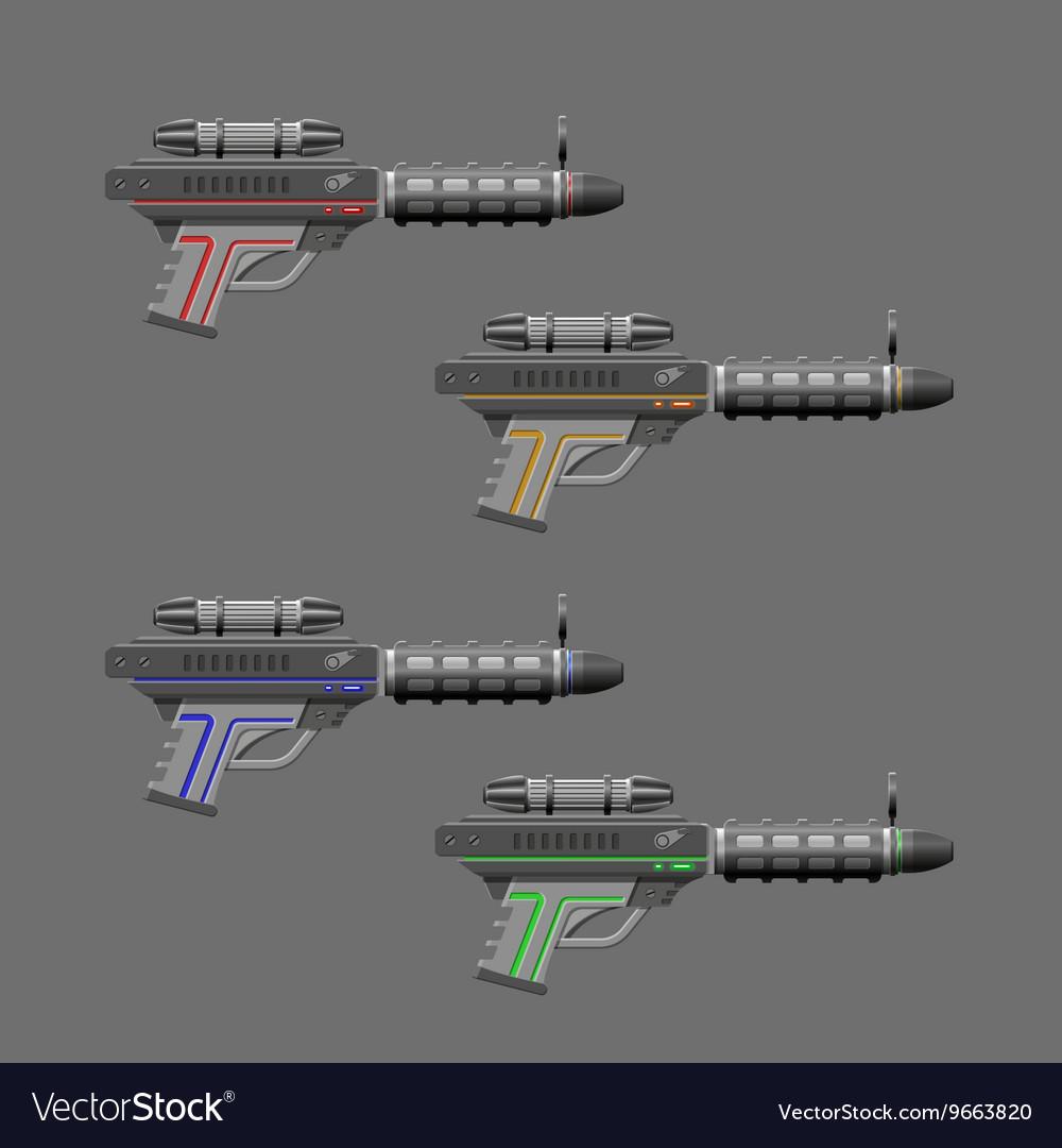 Video game weapon Rifles set