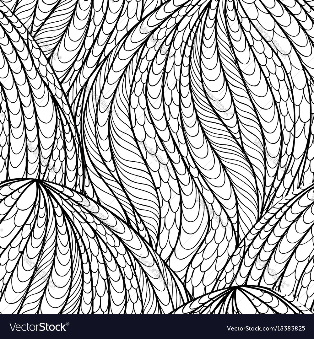 Abstract seamless pattern floral oriental swirl