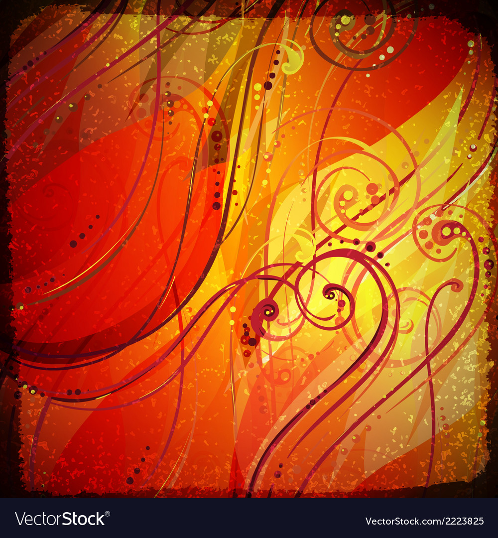 Abstract wave light background with swirls and