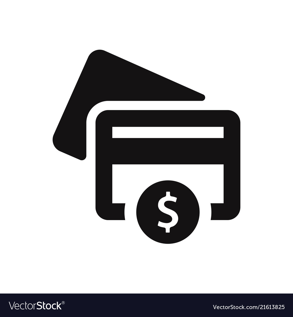 Credit Card Icon With Dollar Sign Vector Image