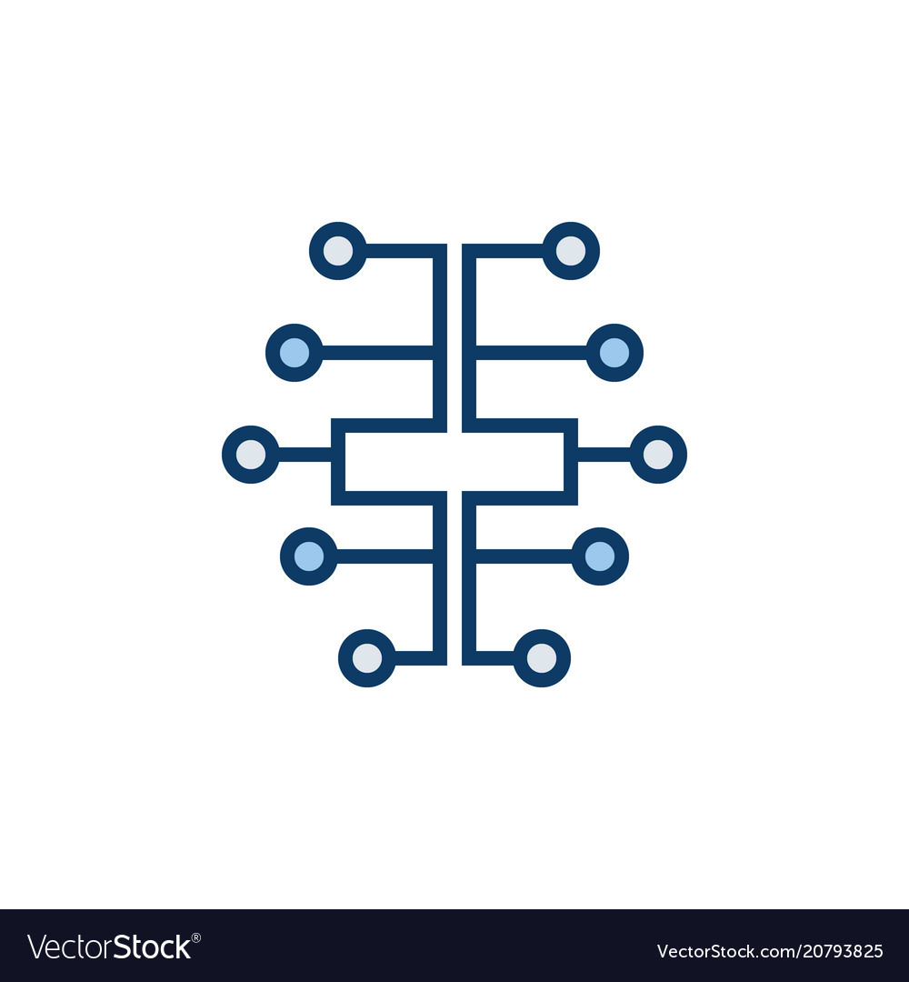 Digital Brain Icon Electric Circuit Vector Image What Is Meant By