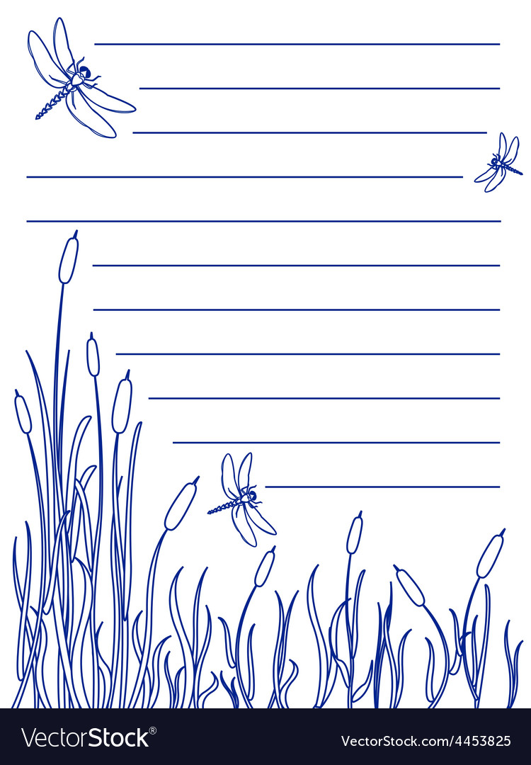 Dragonfly notepad