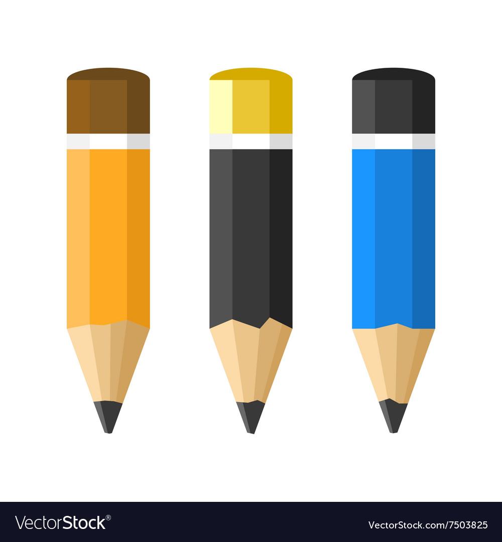 Flat Style Classic Pencils Set