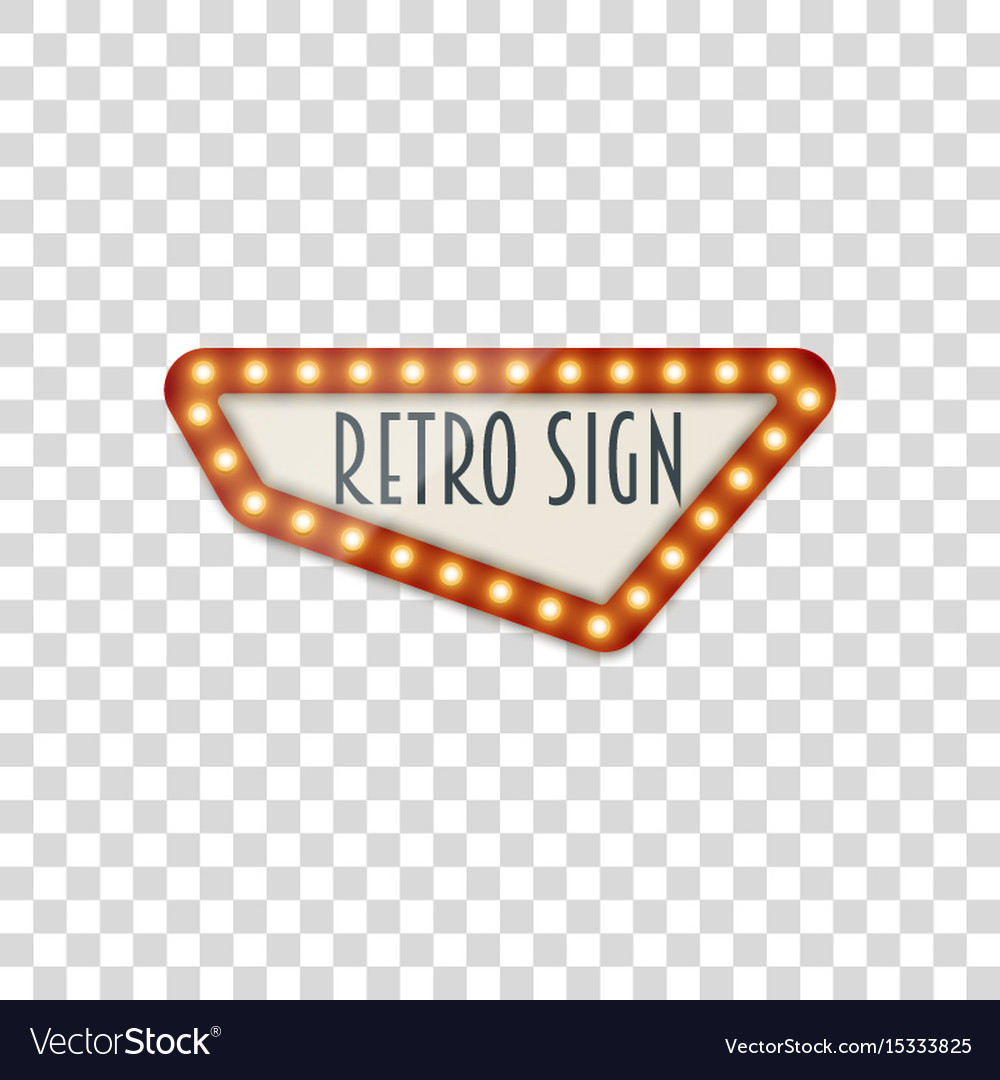 light realistic signage template royalty free vector image