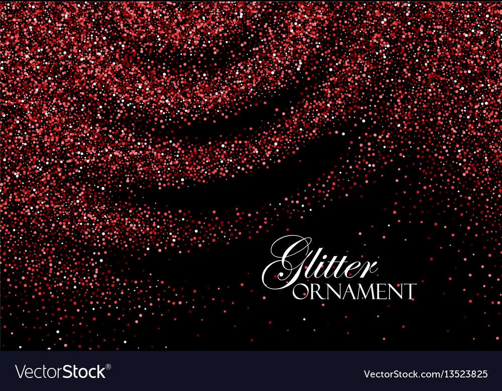 Red confetti glitters