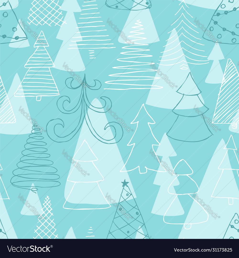 Seamless pattern hand drawn sketch christmas