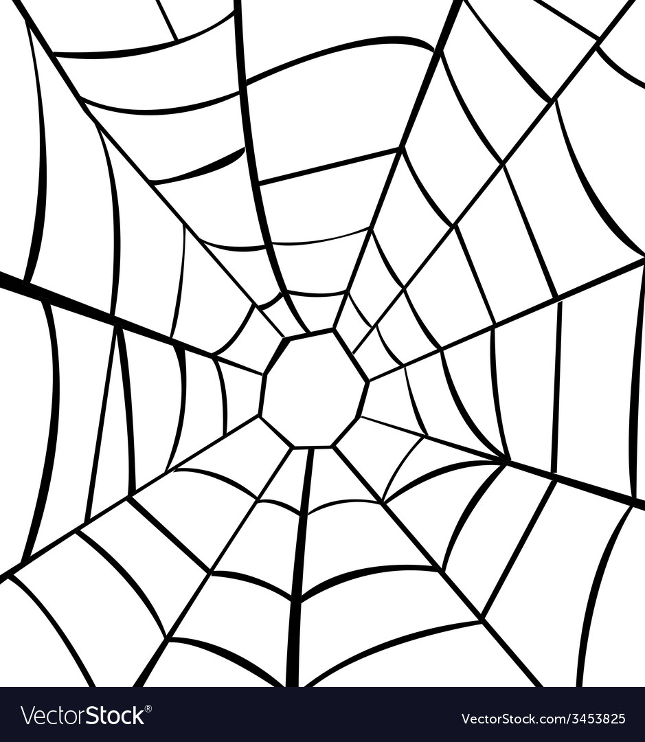 spider web design royalty free vector image vectorstock