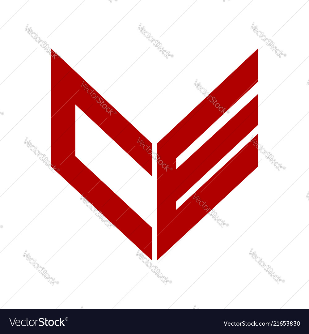 Abstract initial letter ce or oe logo concept