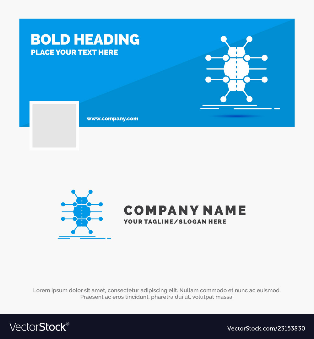 blue business logo template for distribution grid vector image