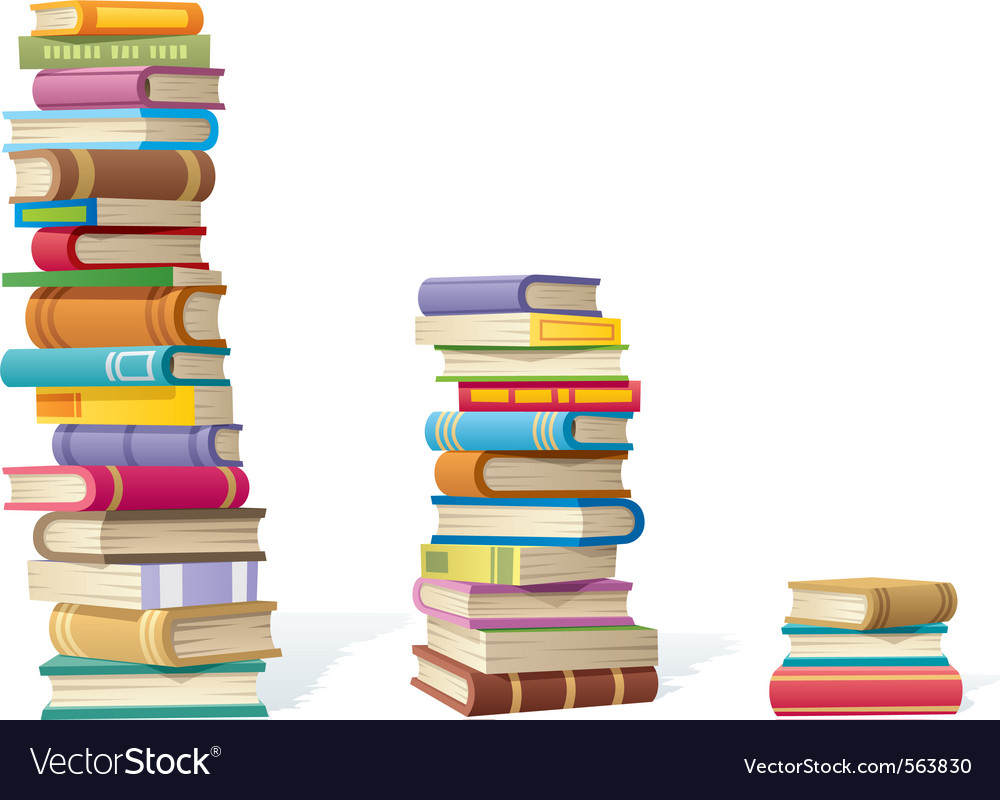 Book stacks vector image
