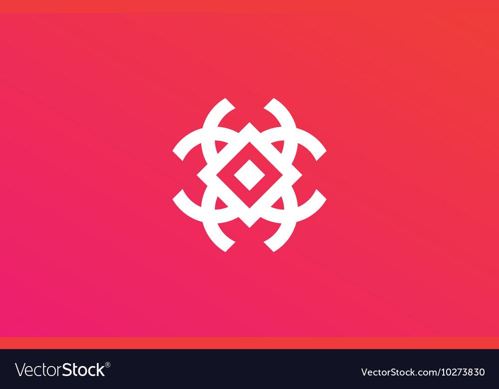 Creative logo abstract element design geometric vector image