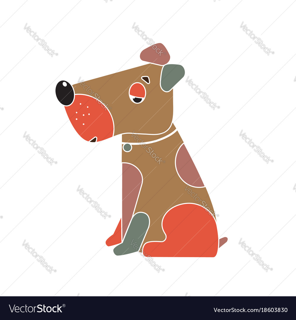 Funny Dog Symbol Of The Chinese New Year Vector Image