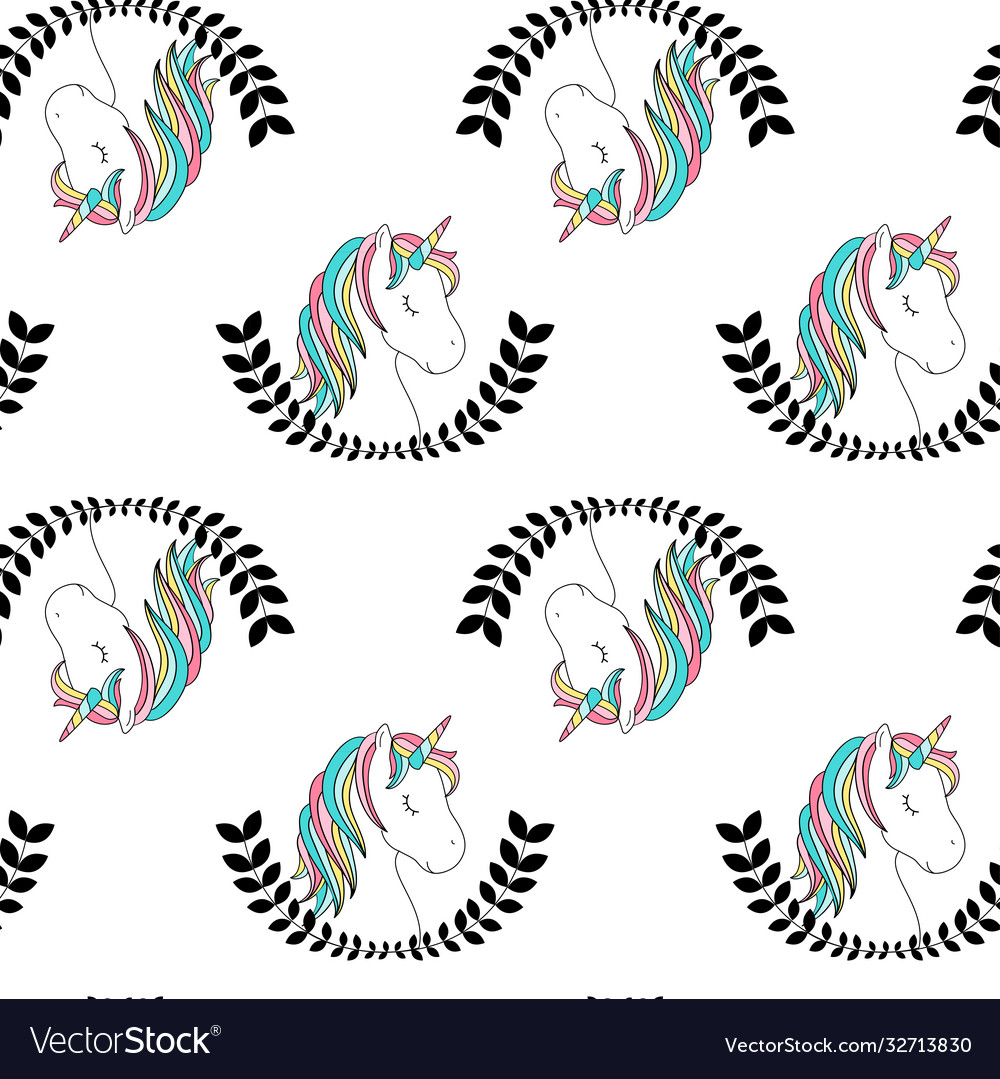 Hand drawing unicorn pattern