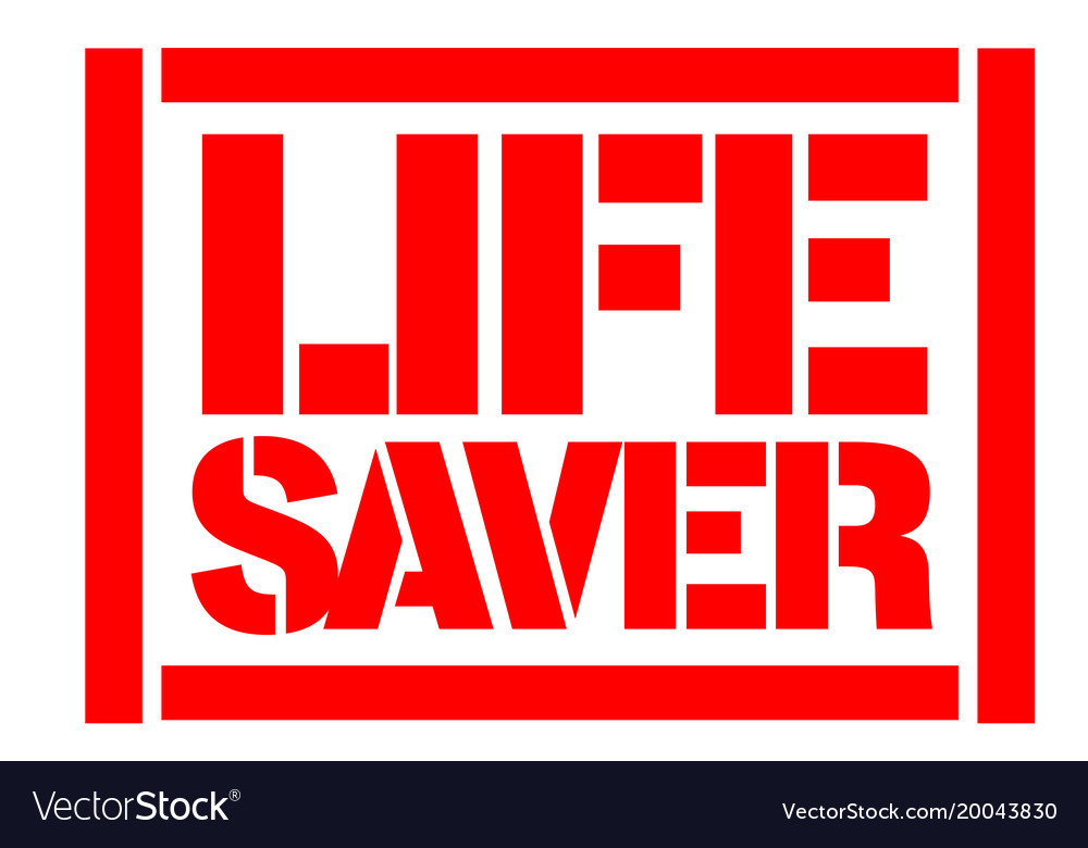 Life saver typographic stamp vector image