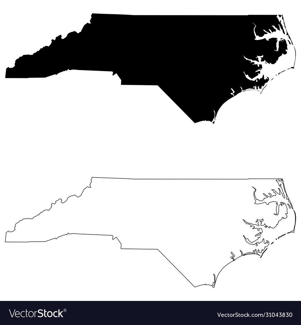 North carolina nc state map usa