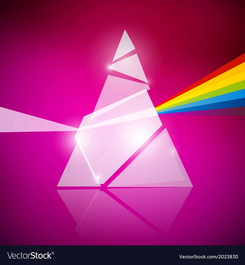 Prism Spectrum on Pink Background