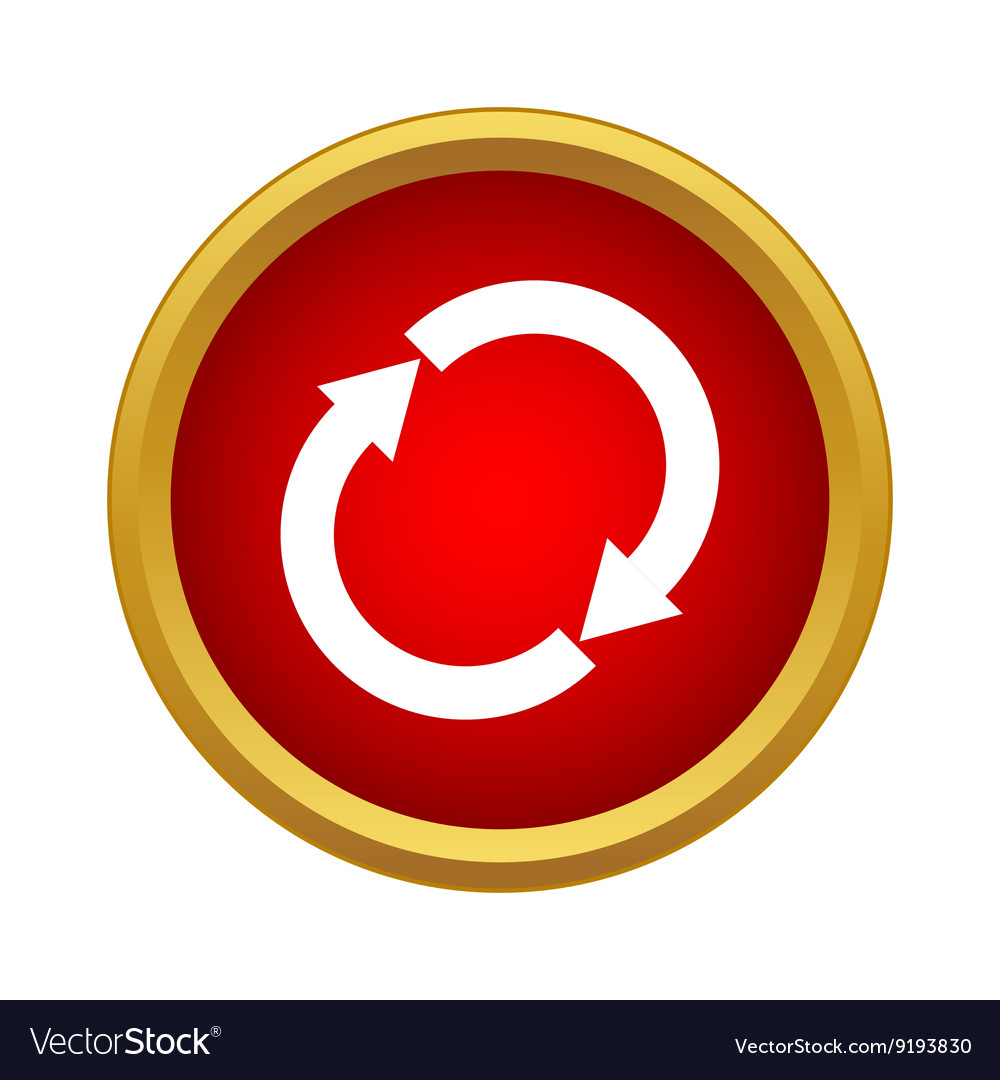 Reload icon simple style vector image
