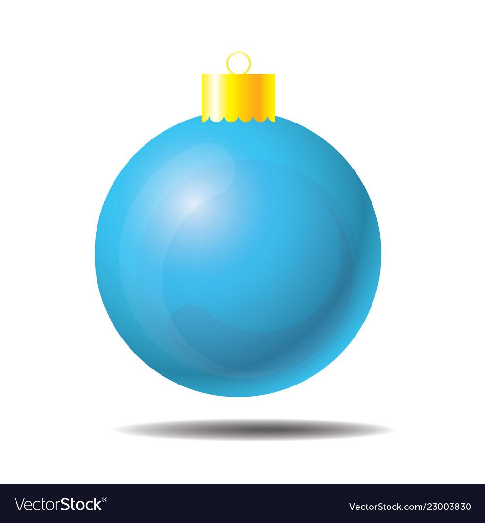 Sky blue christmas ball 01