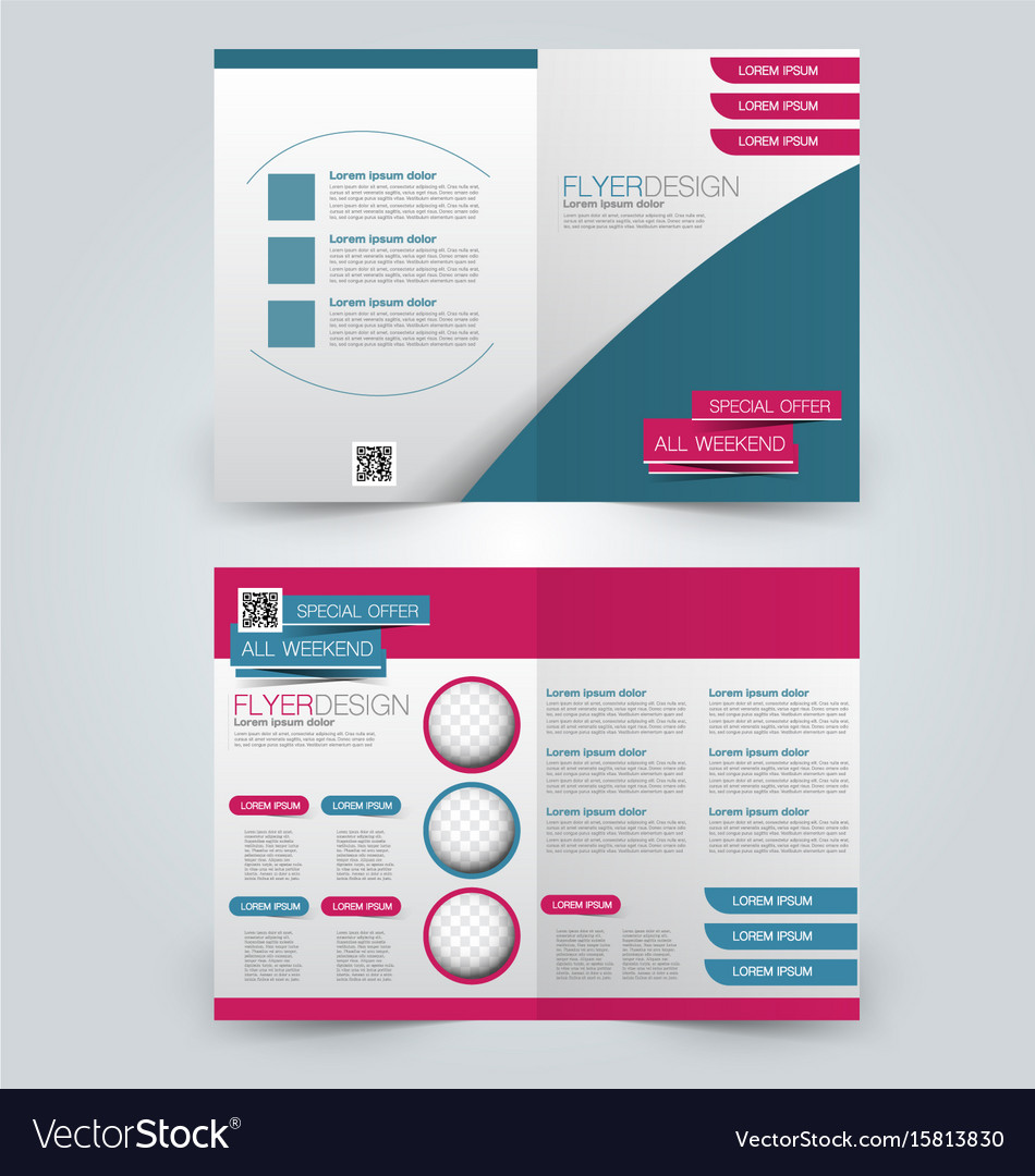 Two page fold brochure template design