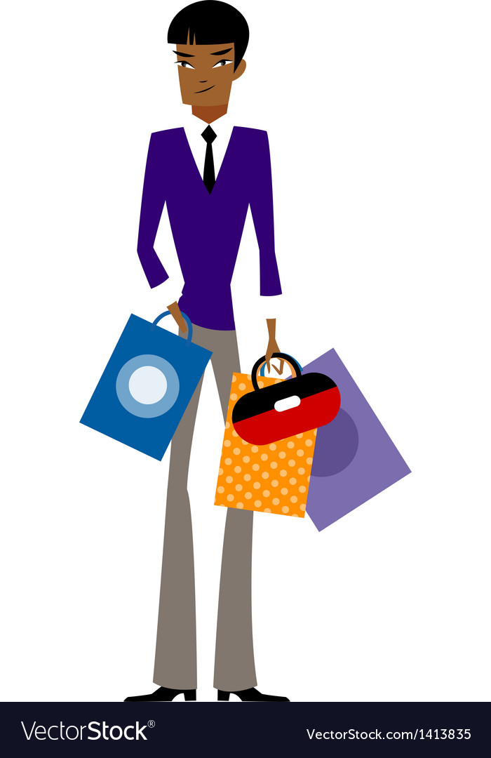 close up of man holding shopping bag royalty free vector rh vectorstock com shopping victoria bc shopping vector freepik