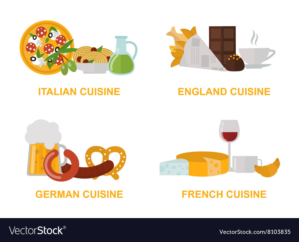 Cuisine lunch gourmet traditional food flat