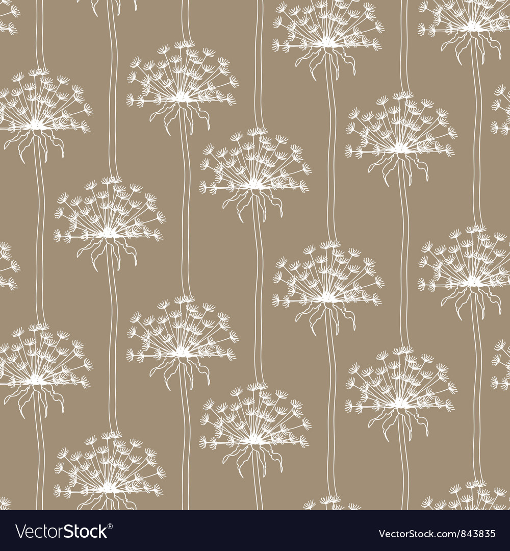 Dry dandelion flowers - abstract seamless pattern