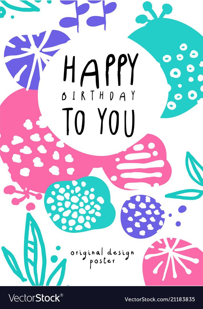 Happy birthday to you original design poster