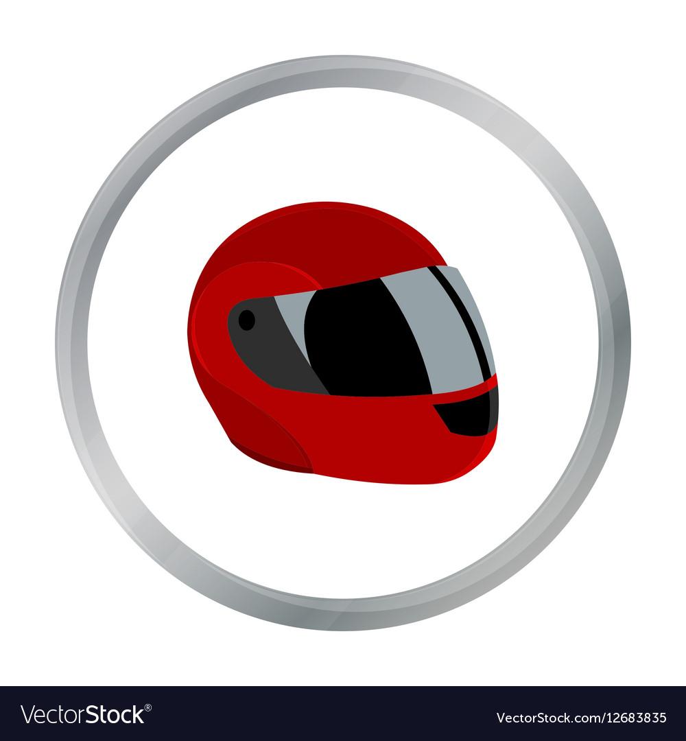 Motorcycle helmet icon cartoon Single sport icon