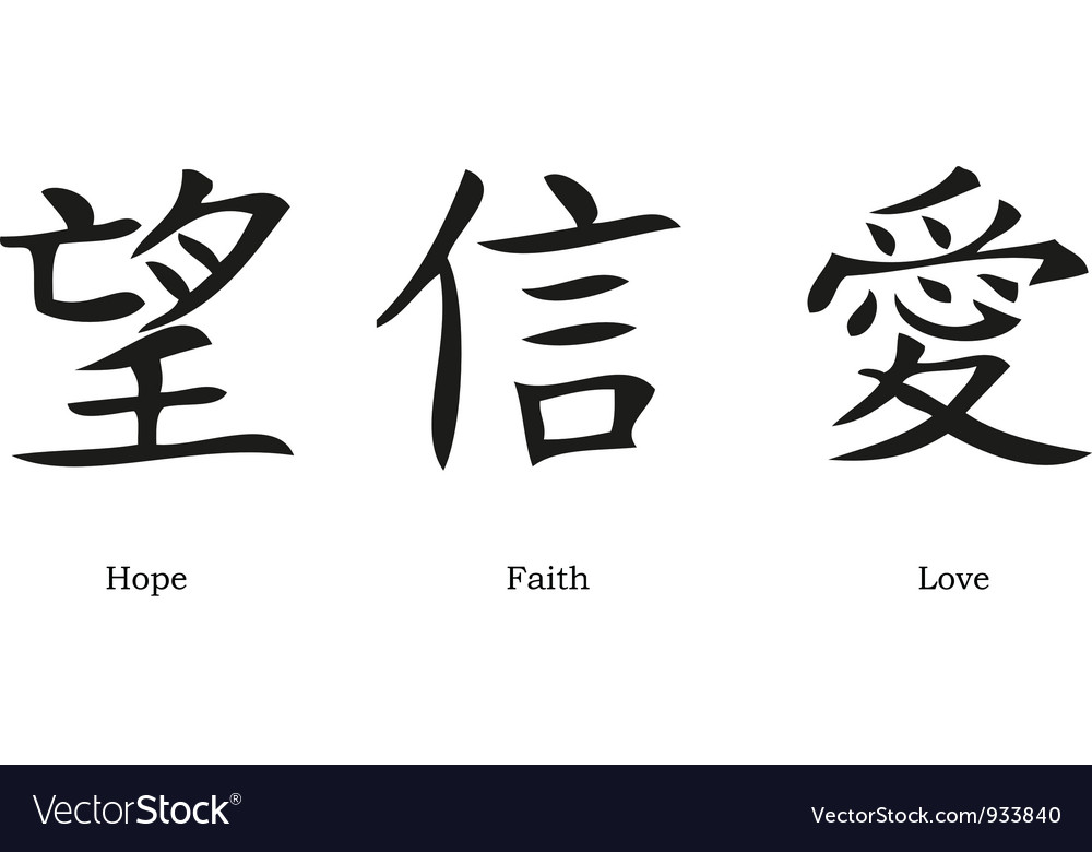 Chinese Symbols Royalty Free Vector Image Vectorstock