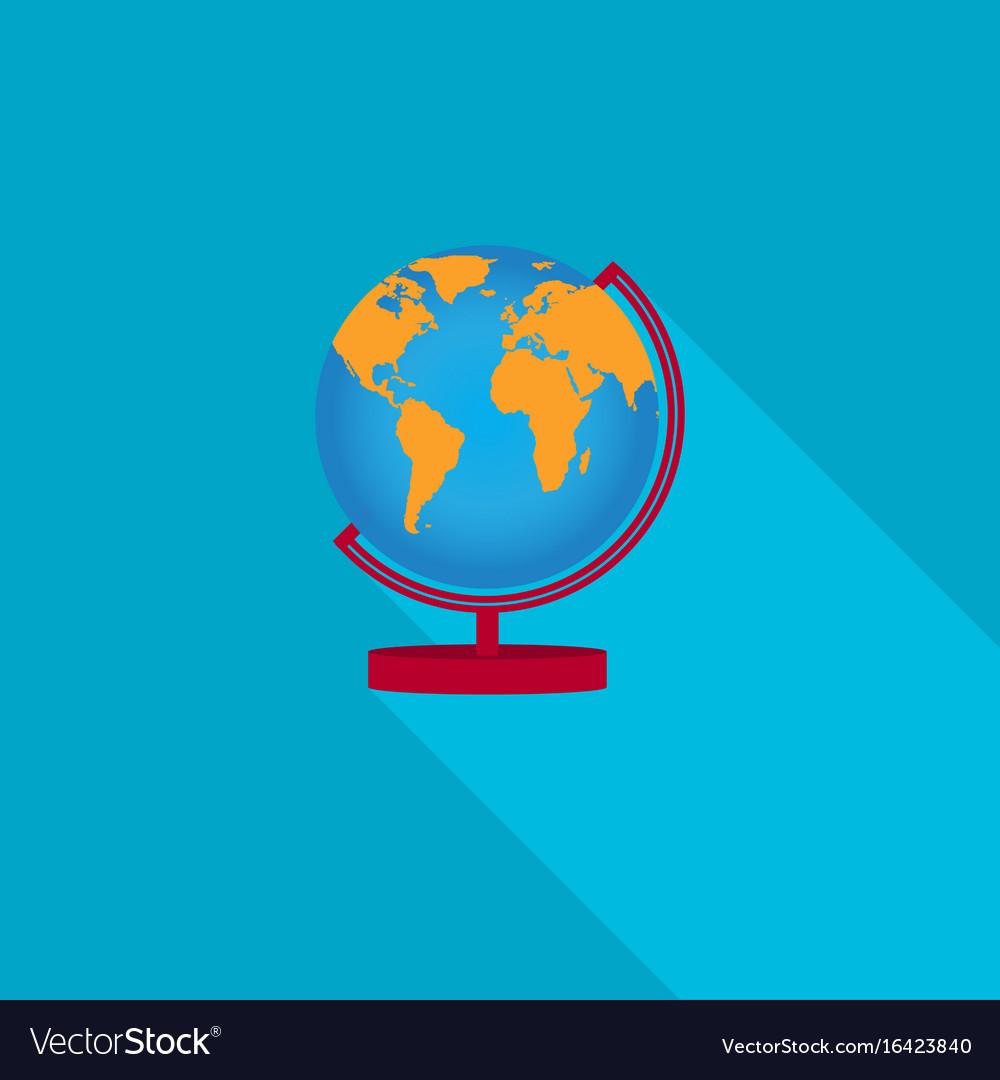 Flat earth globe icons