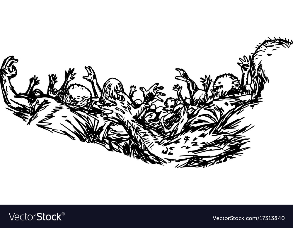 Group of zombie used for halloween vector image