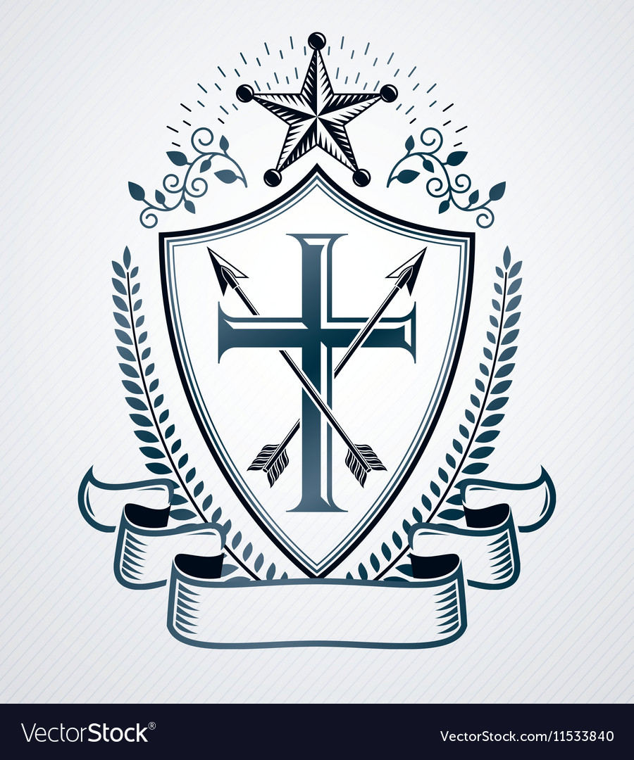 Heraldic emblem isolated vector image