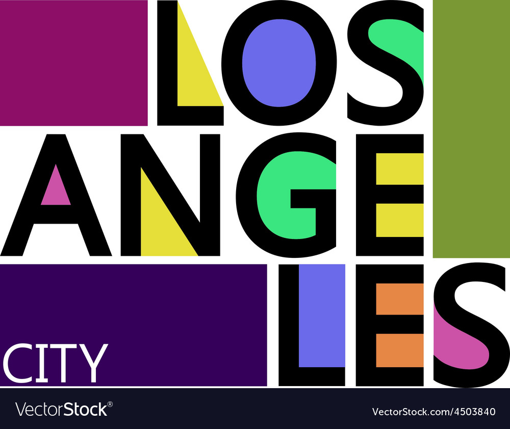 Los Angeles City T-shirt Typography Graphics