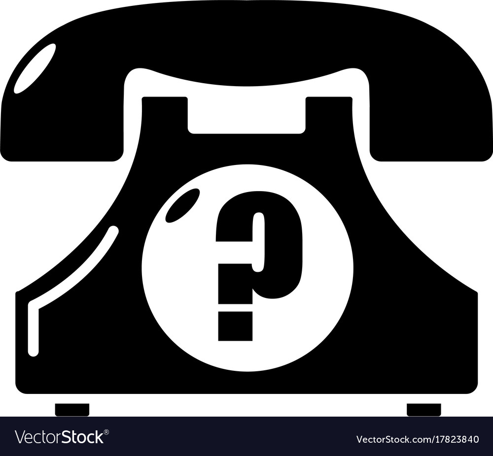 Retro phone icon simple black style vector image
