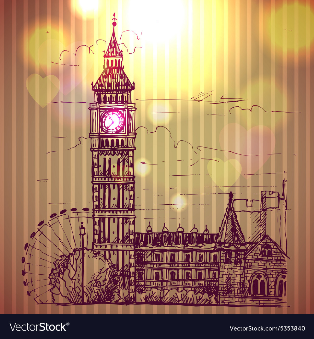 World famous landmark series Big Ben London