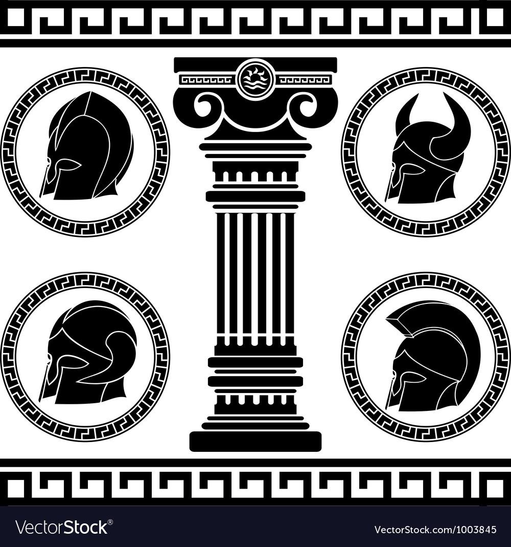 Ancient helmets stencil