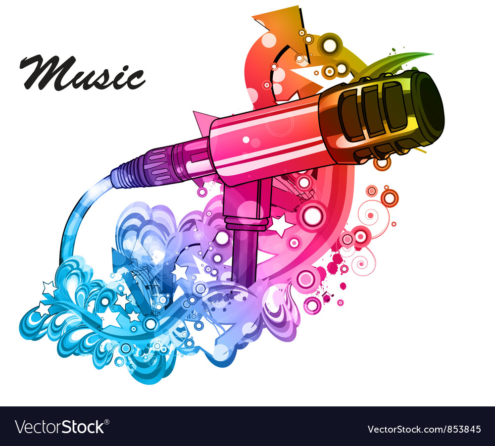 Colorful music poster
