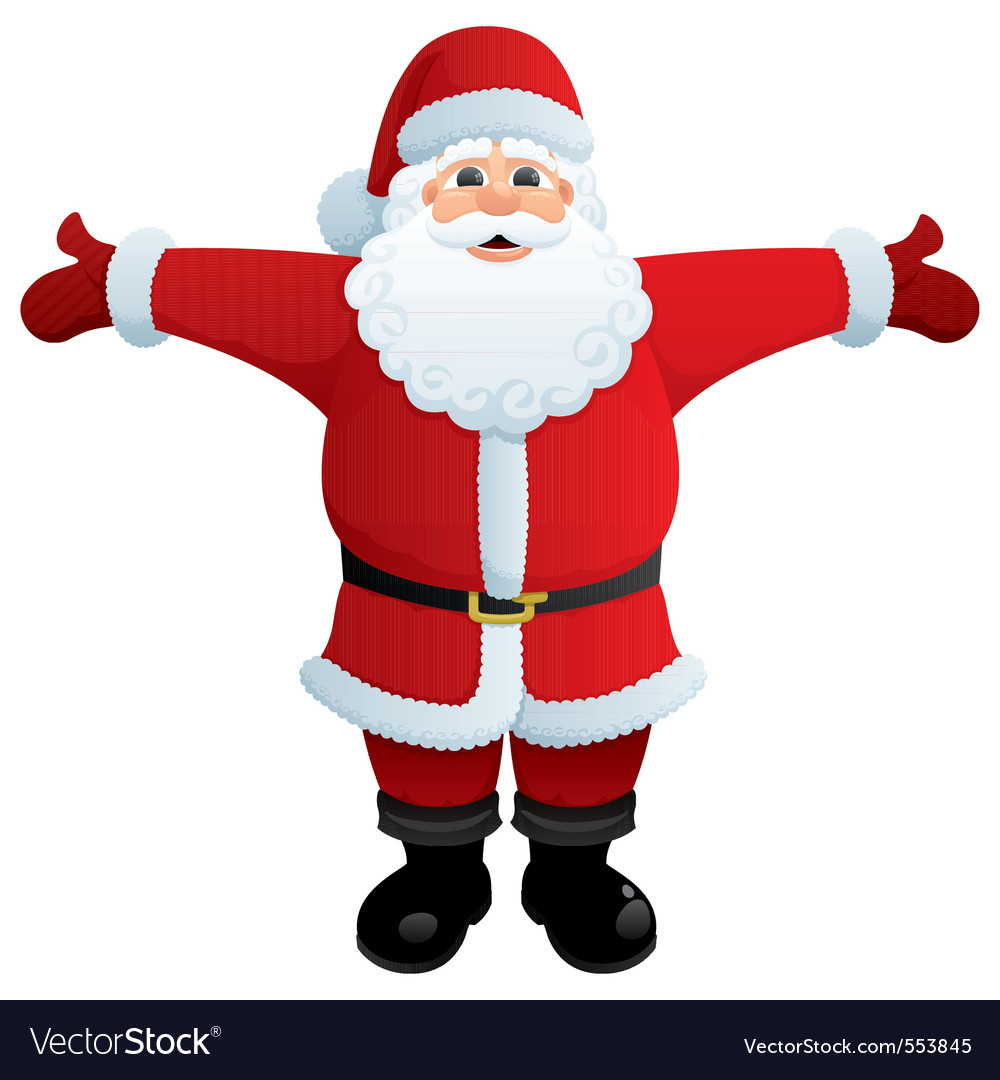 Santa hug vector image