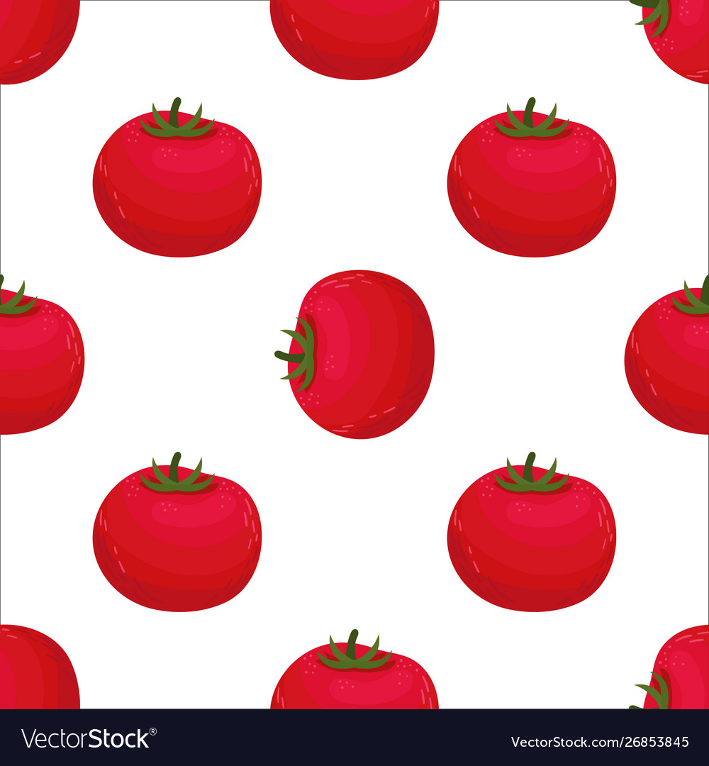 Seamless pattern with red tomatoes